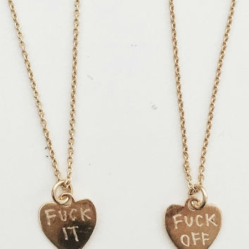 Fuck It & Fuck Off Necklace Duo