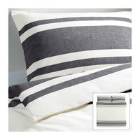 BJÖRNLOKA Duvet cover and pillowcase(s), black - black - King - IKEA