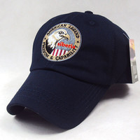 Navy Blue Eagle Siberia Embroidered Baseball Cap Hat