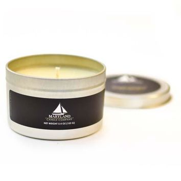 Lemon / Silver Tin Candle
