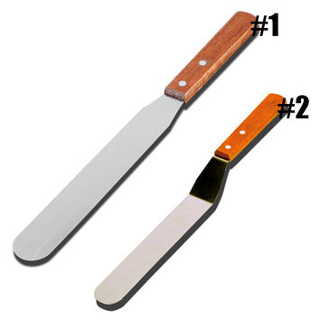 6/8/10inch Stainless Steel Butter Cake Cream Knife Spatula Smoother Icing Frosting Spreader Fondant Pastry Cake Decoration