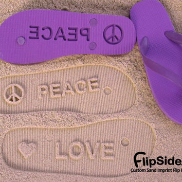 Custom Flip Flops Personalize With Your Sand by FlipSideFlipFlops