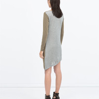 Combined cupro draped dress