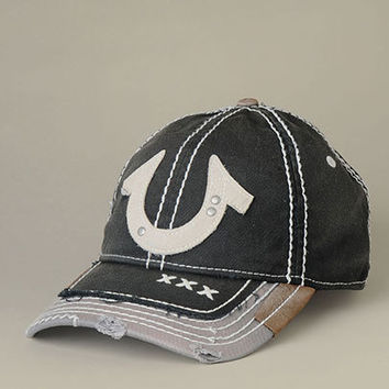Mens White Horseshoe Baseball Cap - (Black) | True Religion Brand Jeans