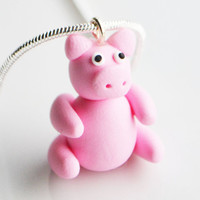 Pig Necklace, Fimo, Polymer Clay