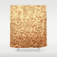 gold Shower Curtain by Ingz