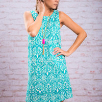 Find Your Dreams Dress, Turquoise