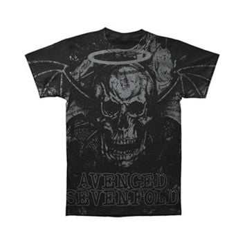 Avenged Sevenfold Men's  AVS Dear God Allover Mens Reg T T-shirt Black