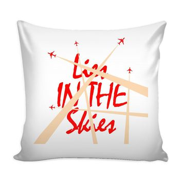 Chemtrails Conspiracy Theory Graphic Pillow Cover Lies In The Skies