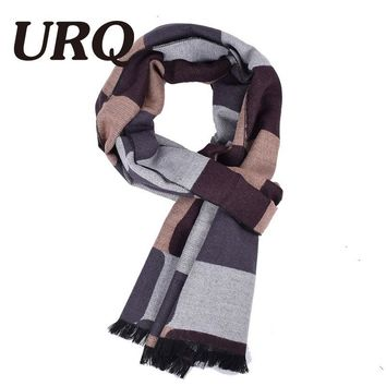 [URQ] Brand New Arrival Male winter scarf Scarves Men Artical Wool plaid bufanda Cashmere Muffler Thick Thermal Wraps A3A18930