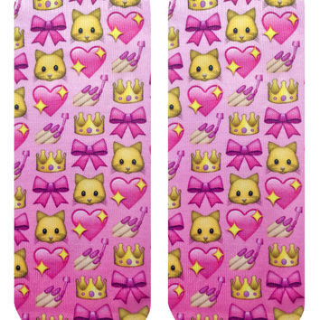 Girly Emoji Ankle Socks
