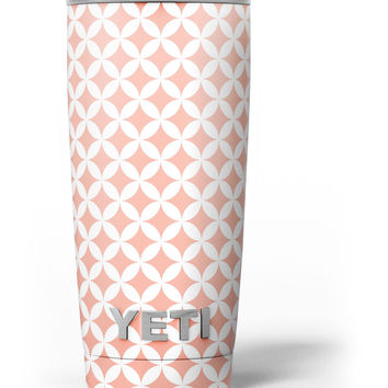 The Apricot and White Overlapping Circles Yeti Rambler Skin Kit