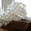 Geometric Paper and Walnut sculpture by BrittaGould on Etsy