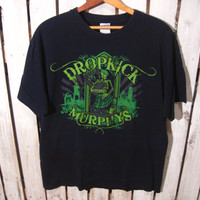 Dropkick Murphys, Punk/Rock/Metal T-Shirt, Size Large. Upcycled Clothing.