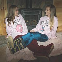 Best Friends Donut And Coffee Duo Sweatshirt