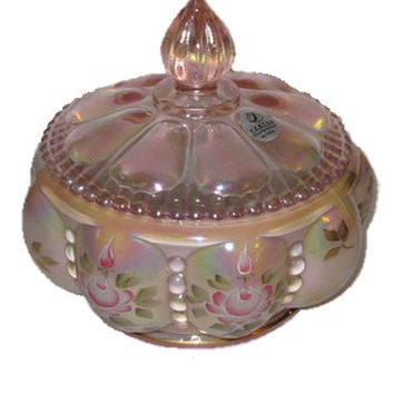 Fenton Box/Bowl C/Lid/Spire, Retired, Ltd. Edition, 2X Signed