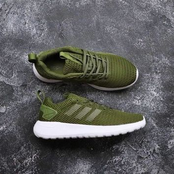 Adidas Neo Cloudfoam Life Racer CC Olive Green White - Best Deal Online