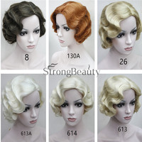 Flapper Hairstyles for Women Finger Wave Wig Retro Style Short Synthetic Wig