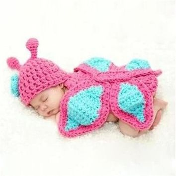 Baby Girls Boy Newborn 0-9 Month Knit Crochet Minnie Clothes Photo Prop Outfits newborn photography props Levert Dropship Jan12