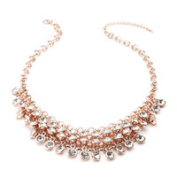Bezel Set Rhinestone Necklace