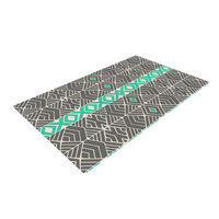 """Pom Graphic Design """"Going Tribal"""" Gray Green Woven Area Rug"""