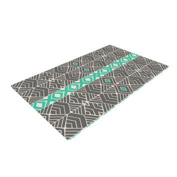 "Pom Graphic Design ""Going Tribal"" Gray Green Woven Area Rug"