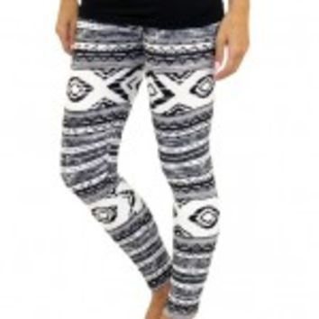 Black And White Print Leggings