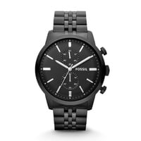 Townsman Chronograph Stainless Steel Watch - Black