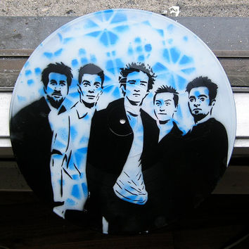 NSYNC SprayPainted on Record Vinyl BUY any 3 RECORDs by AceTroy