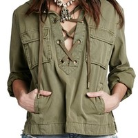 Free People 'Safari' Cotton Pullover Jacket | Nordstrom