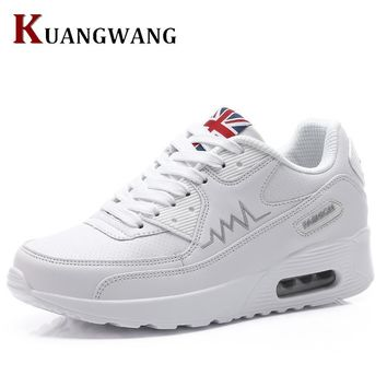 2018 New Fashion Flat Women Trainers Breathable Shoes Woman Leather Casual Tenis Feminino Sapato Women Flats Zapatillas Mujer 1