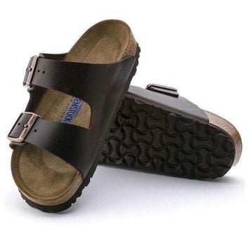 CREYNW6 Sale Birkenstock Arizona Soft Footbed Smooth Leather Amalfi Testa Di Moro 0552341/0552343 Sandals