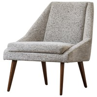 Enzo Fabric Accent Chair Drizzle Gray