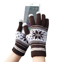 Womens Winter Knit Thick Warm Girls Touch Screen Gloves Gift