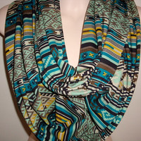 Beautiful Aztec Print Infinity Scarf