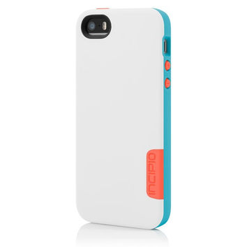 The Incipio White / Blue / Red Phenom™ Lightweight Case with Phenomenal Drop Protection for iPhone 5-5s