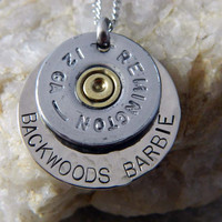 Backwoods Barbie 12 Gauge Bullet Necklace