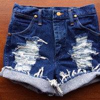 Size 0/2 High Waisted Jean Shorts