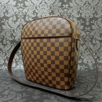 Rise-on LOUIS VUITTON DAMIER IPANEMA GM Shoulder Bag #1 t
