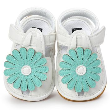 2017 New Summer Sun Flower Sandals Baby Shoes Soft Soled Baby Girl Toddler Shoes Fit Babies
