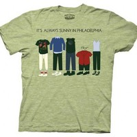 It's Always Sunny in Philadelphia Outfits Light Green Adult T-shirt  - It's Always Sunny In Philadelphia - | TV Store Online