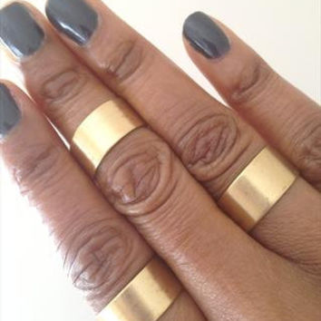 Gold Cuff Rings Set of 3 Wide Rings adjustable Rings UK Shop