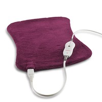 Sunbeam Xpressheat Hourglass-Shaped Heating Pad, Purple
