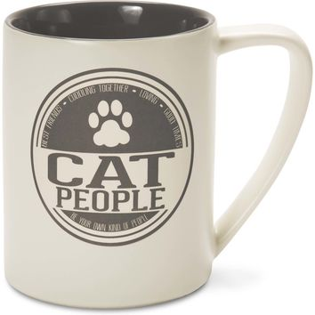 Cat People Best Friends Cuddling Together Loving Good Times Coffee Mug