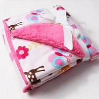 Adorable Girls or Boys Thick and Plush Baby Blankets
