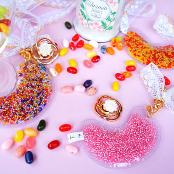 Lavinia fenton rococo baroque jelly beans jelly belly key chain backpack bag accesorie kawaii sweets gold gift