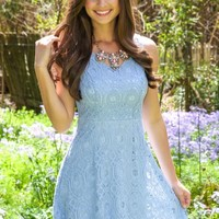 Smitten With You Dress-Sky