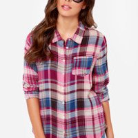 Olive & Oak State Fair Fuchsia Plaid Shirt