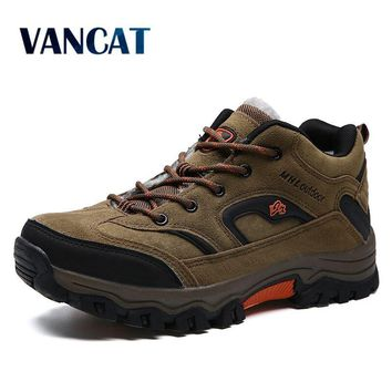 VANCAT Brand Winter Shoes Men, Big Size 36-47 Super Warm Men's Boots, Casual Sneakers Ankle Snow Boots For Man Footwear