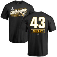 Men's Conor Sheary Pittsburgh Penguins 2017 Stanley Cup Champions Extra T-Shirt - Black - Teams Tee